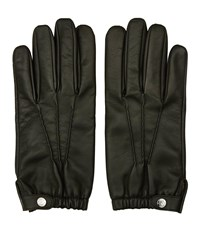 Reiss Thornton Mens Dents Leather Gloves In Brown