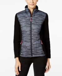 Ideology Space Dyed Fleece Jacket Only At Macy's Noir Spacedye