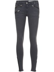 Rag And Bone Jean Zipper Skinny Jeans Grey