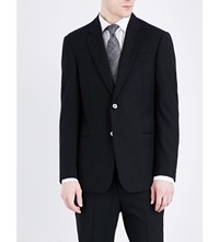 Armani Collezioni Regular Fit Wool Jacket Black
