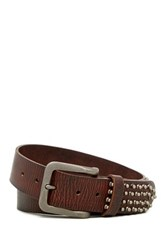 Star Usa By John Varvatos Weathered Studded Leather Belt Brown