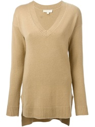 Michael Michael Kors V Neck Sweater Nude And Neutrals