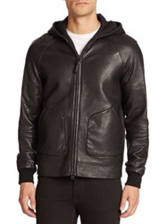 Mackage Grayson Pebbled Leather Jacket Black