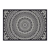 Hibernica Kathmandu Abstract Flower Vinyl Placemat Black White