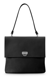 Shinola Birdy Leather Shoulder Bag Black