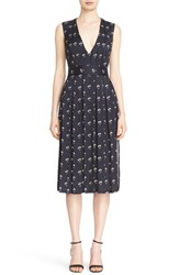 Victoria Beckham Women's Daisy Print Twill Satin Dress
