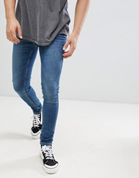 Brooklyn Supply Co. Co Muscle Fit Jeans In Stone Wash Stonewash Blue