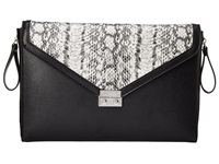Bcbgeneration The Sorry I'm Late Clutch Black Combo Clutch Handbags