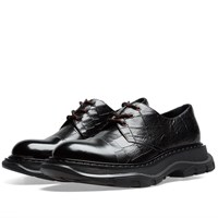 Alexander Mcqueen Oversized Sole Derby Shoe Black