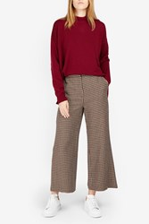 Rosetta Getty Cropped Tweed Culottes Brown