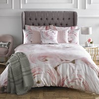 Karl Lagerfeld Rana Rose Duvet Cover Pink Red