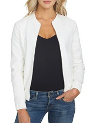 1.State At Leisure Long Sleeve Front Bomber Jacket White
