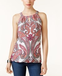 Inc International Concepts Strappy Back Halter Top Only At Macy's Etheral Paisley