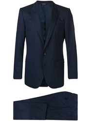Dolce And Gabbana Two Piece Formal Suit Blue