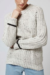 Slouchy Ribbed Jumper By Boutique Grey Marl