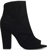 Miss Kg Sybil Peep Toe Ankle Boots Black