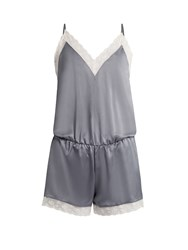 Morpho Luna Monny Washed Silk Playsuit Grey