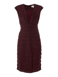 Linea Lace Insert Illusion Dress Berry