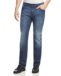 Boss Maine Straight Fit Jeans In Mid Wash Blue