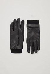Cos Touch Screen Leather Gloves Black