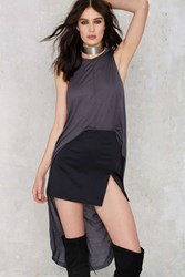 Nasty Gal Good Times Bad Times High Low Maxi Top Slate Gray