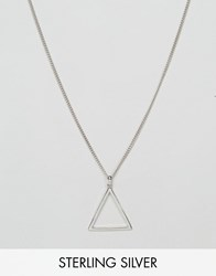 Serge Denimes De Nimes Triangle Symbol Pendant Necklace In Solid Silver English Hallmarked 925 Silver