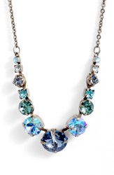 Sorrelli Delicate Round Crystal Necklace Blue