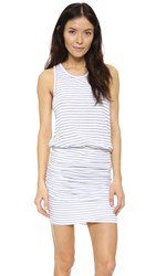 Sundry Striped Sleeveless Dress White