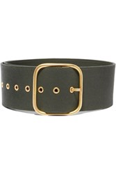 Monse Cotton Canvas Waist Belt Army Green