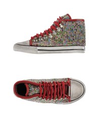 Dioniso Footwear High Tops And Trainers Women Brick Red
