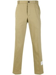 Thom Browne Cotton Twill Unconstructed Chino Trouser Nude And Neutrals