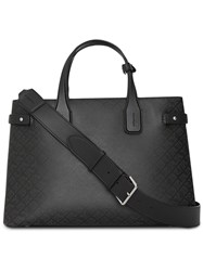 Burberry Banner Perforated Tote Black