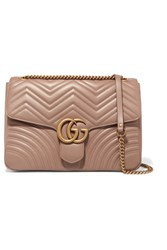 Gucci Gg Marmont Large Quilted Leather Shoulder Bag Beige