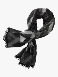 Betty Barclay Geometric Patterned Scarf Black Silver
