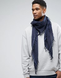 French Connection Scarf Navy Black