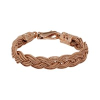 Emanuele Bicocchi Ssense Exclusive Rose Gold Flat Braided Bracelet