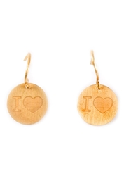 Marie Helene De Taillac 'I Love' Earrings Metallic