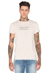 Scotch And Soda Text Artwork Tee Beige