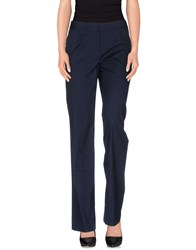 Les Copains Trousers Casual Trousers Women Dark Blue