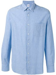 Aspesi Classic Shirt Men Cotton M Blue