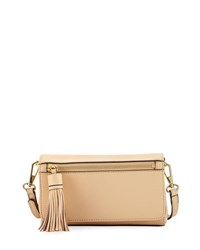 Rebecca Minkoff Jill Saffiano Crossbody Bag Medium Beige