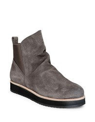 Patricia Green Charley Suede Round Toe Ankle Boots Grey