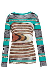 Missoni Fitted Boat Neck Blouse Green