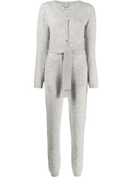 Max And Moi Fine Knit Playsuit Grey