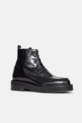 Ami Alexandre Mattiussi French Style Laced Boots Black