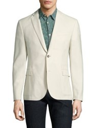 J. Lindeberg Hopper Wool Jacket Off White