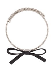 Miu Miu Crystals Necklace Black
