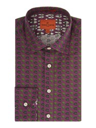 Simon Carter Hat Print Shirt Purple