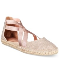 Kenneth Cole Reaction Women's How To Dance Strappy Espadrille Flats Women's Shoes Rose Gold