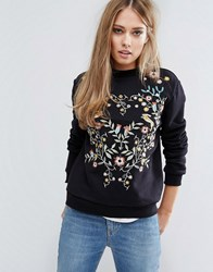 Warehouse Embroidered Sweater Multi
